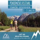 3. Pohodniški festival v Kamniško-Savinjskih Alpah, 22.-25. junij 2017