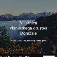 Vabilo ob 70 letnici PD Domžale!