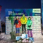Šuštarjeva in Hrast tretja v skupni razvrstitvi evropskega pokala v lednem plezanju